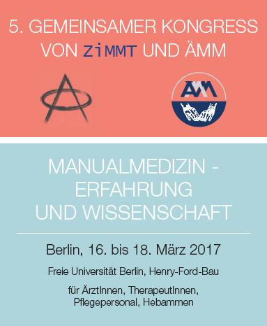 5. Gemeinsamer Kongress von ZiMMT und ÄMM vom 16.-18.03.2017 in Berlin